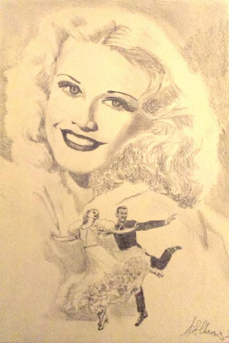 Ginger Rogers por Lindasart